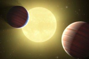 2 Planete mit Stern
