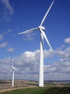 Windkraftanlage auf dem Land